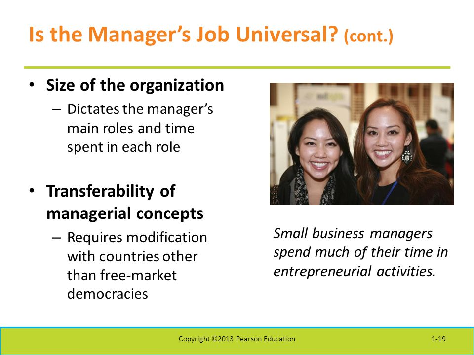 Is the Manager's Job Universal (cont.)