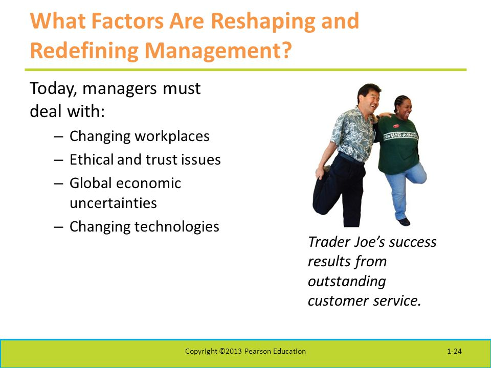 What Factors Are Reshaping and Redefining Management