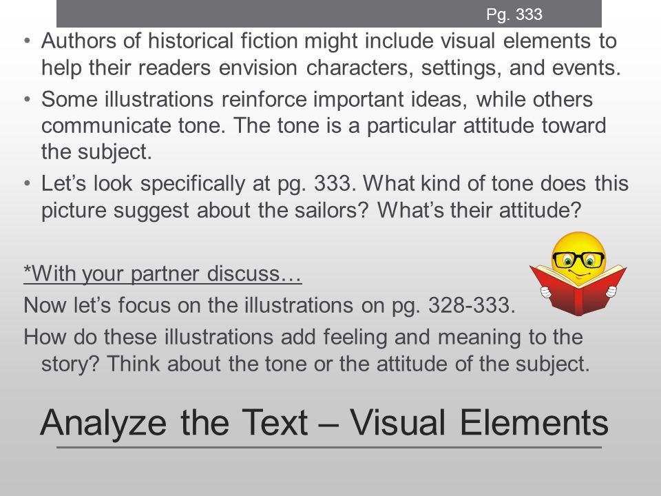 Analyze the Text – Visual Elements