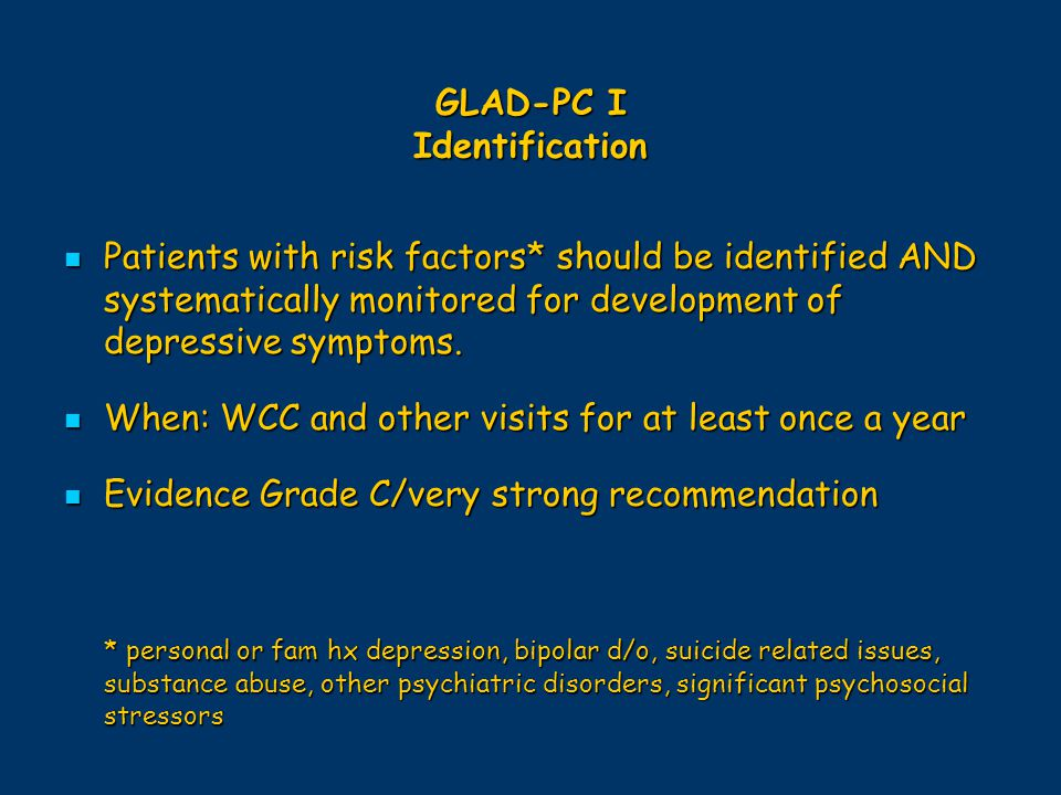 GLAD-PC I Identification