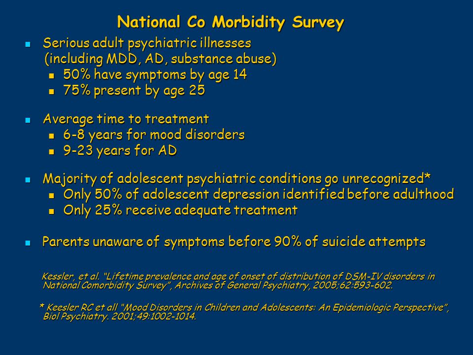 National Co Morbidity Survey