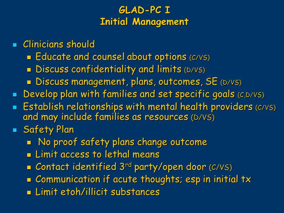 GLAD-PC I Initial Management
