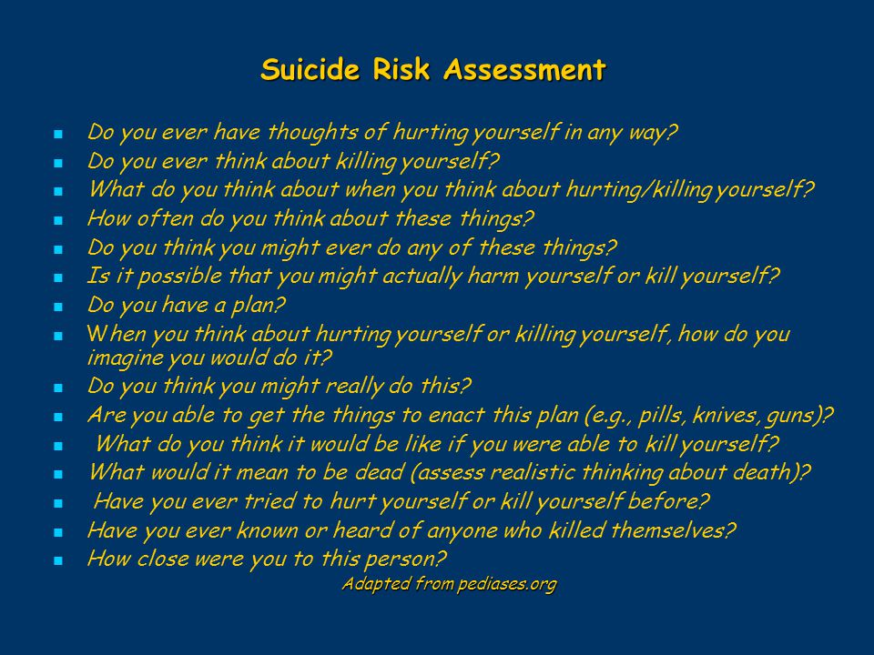 Suicide Risk Assessment