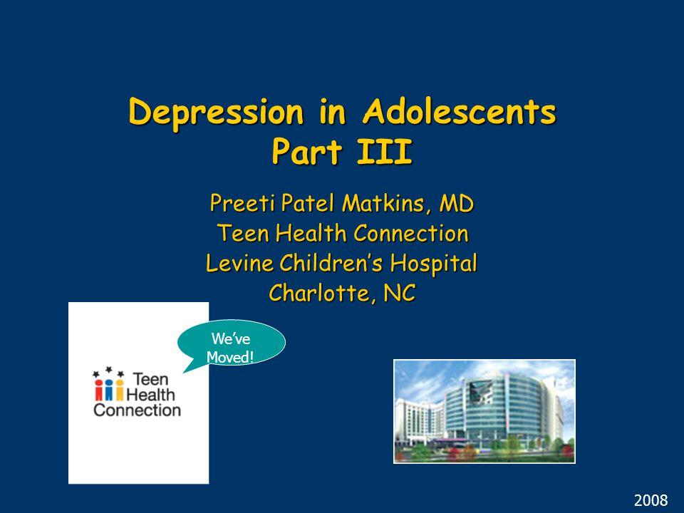 Depression in Adolescents Part III