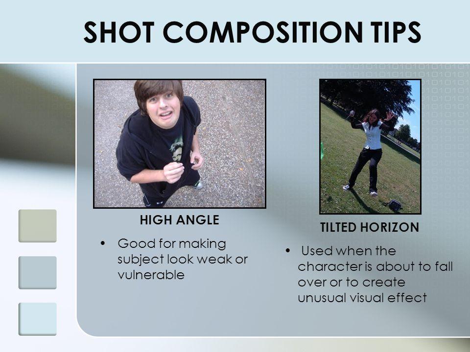 SHOT COMPOSITION TIPS HIGH ANGLE