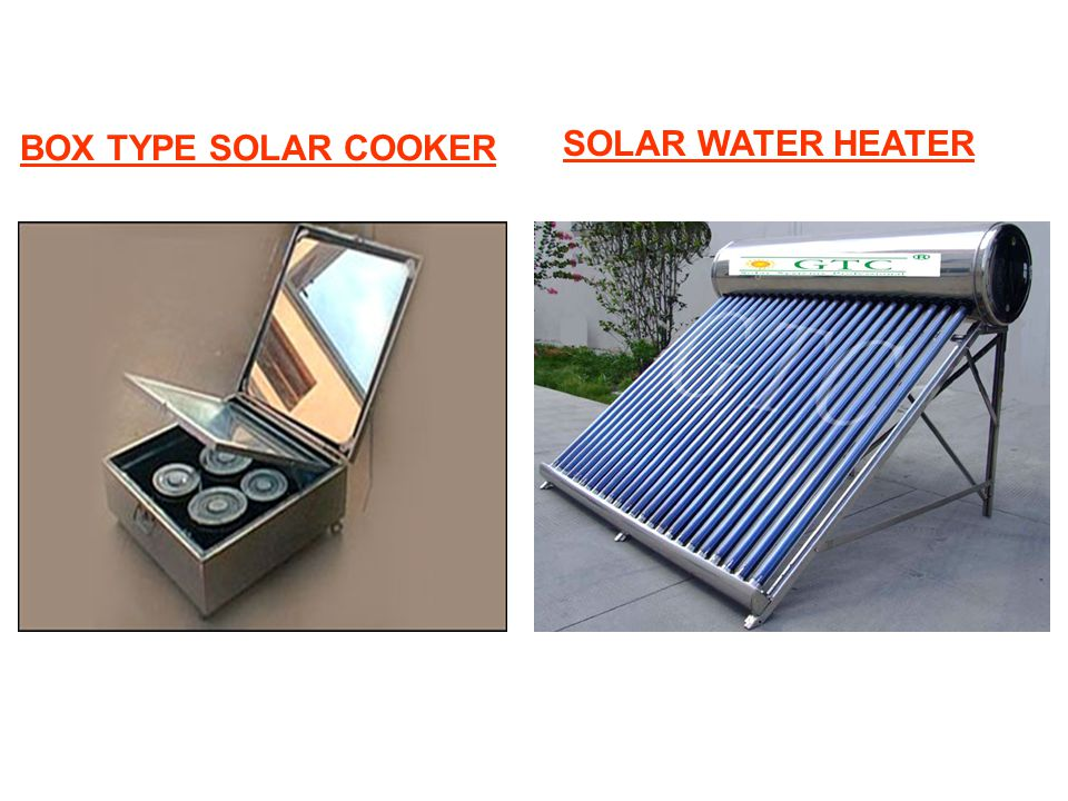 BOX TYPE SOLAR COOKER SOLAR WATER HEATER
