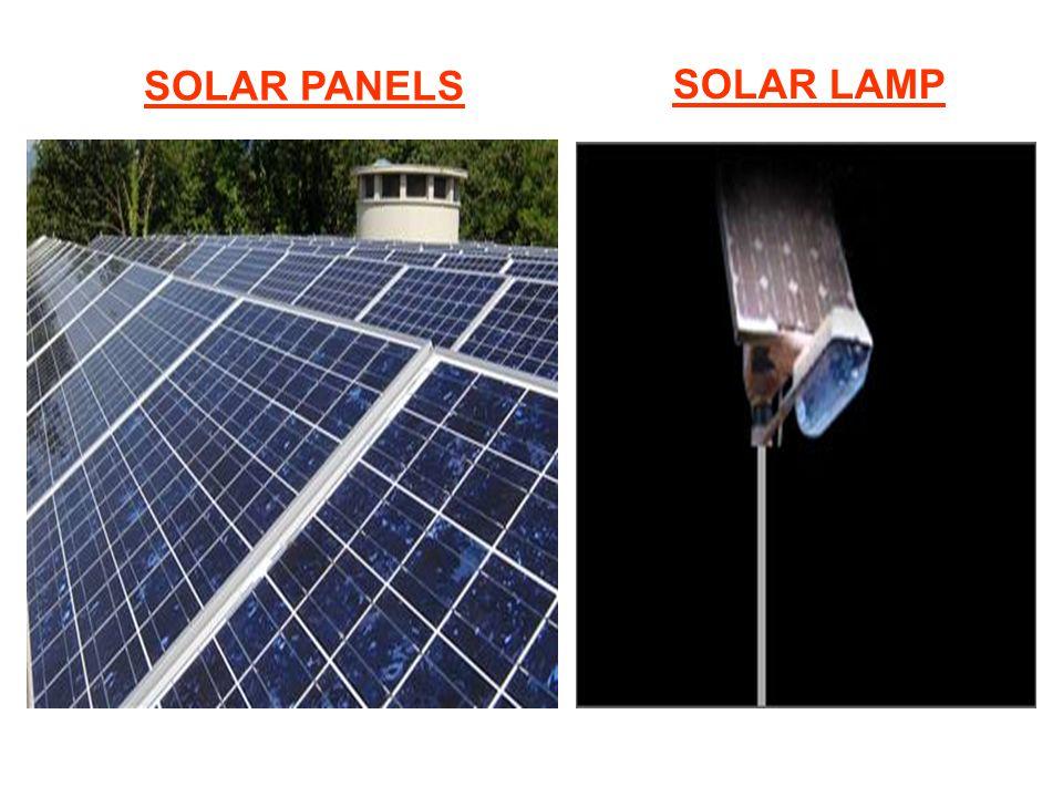 SOLAR PANELS SOLAR LAMP