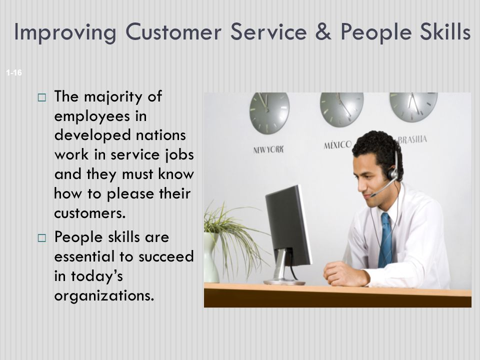 Improving Customer Service & People Skills
