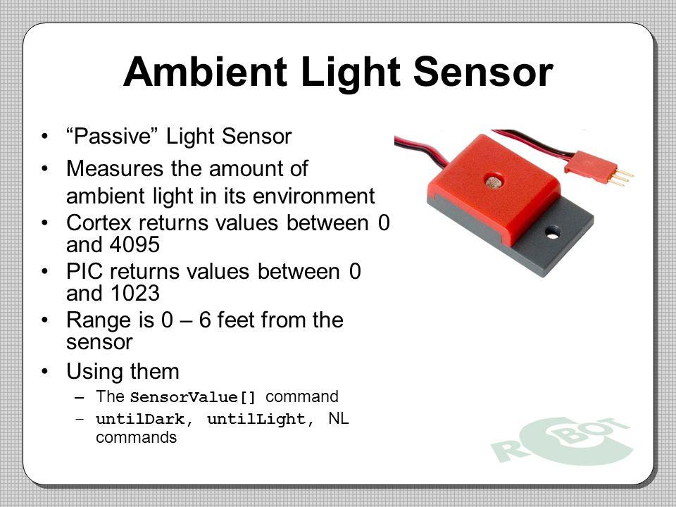 Ambient Light Sensor Passive Light Sensor