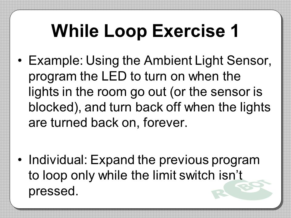 While Loop Exercise 1