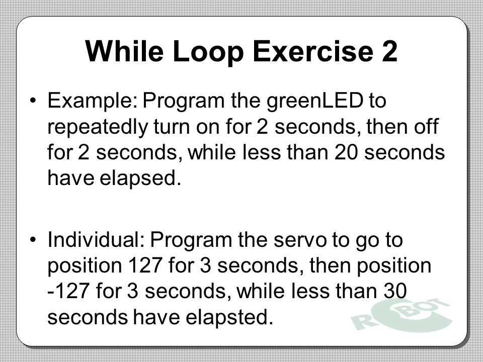 While Loop Exercise 2