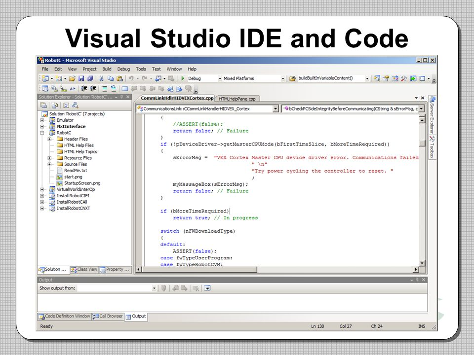 Visual Studio IDE and Code