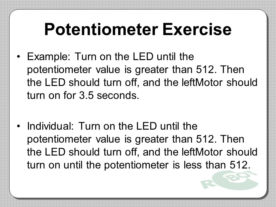 Potentiometer Exercise