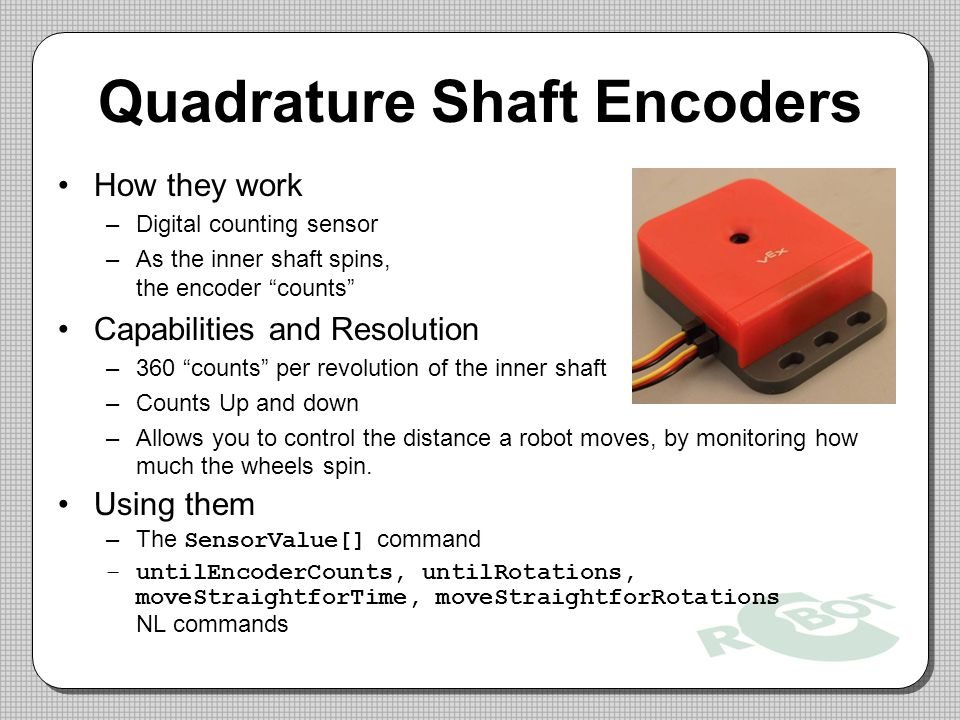 Quadrature Shaft Encoders