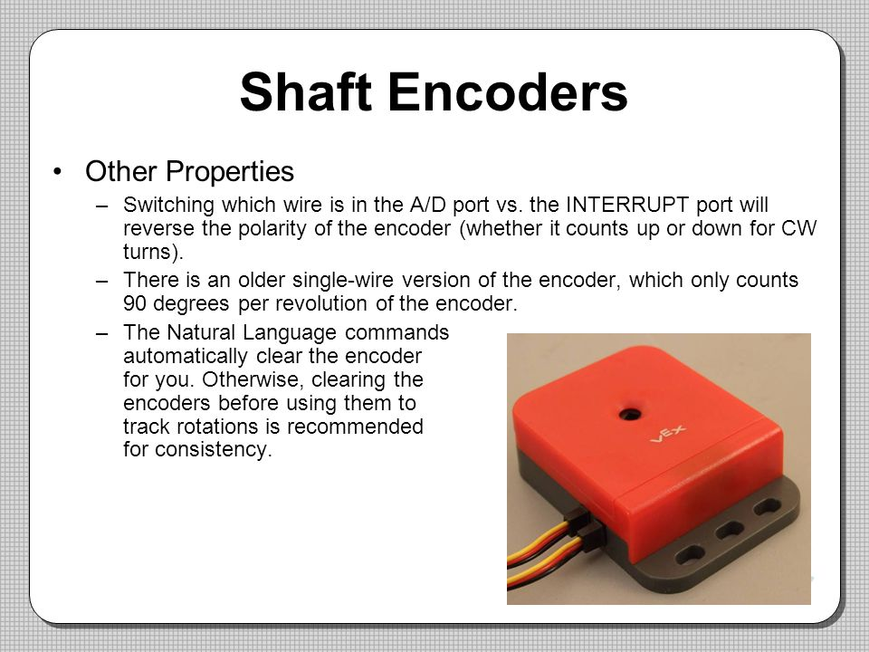 Shaft Encoders Other Properties