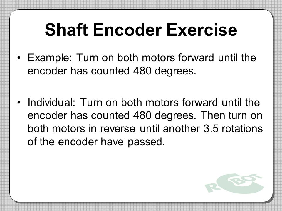 Shaft Encoder Exercise