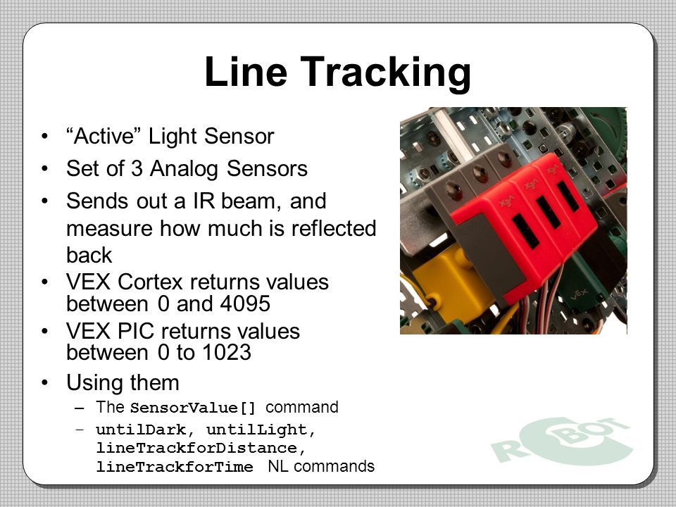 Line Tracking Active Light Sensor Set of 3 Analog Sensors