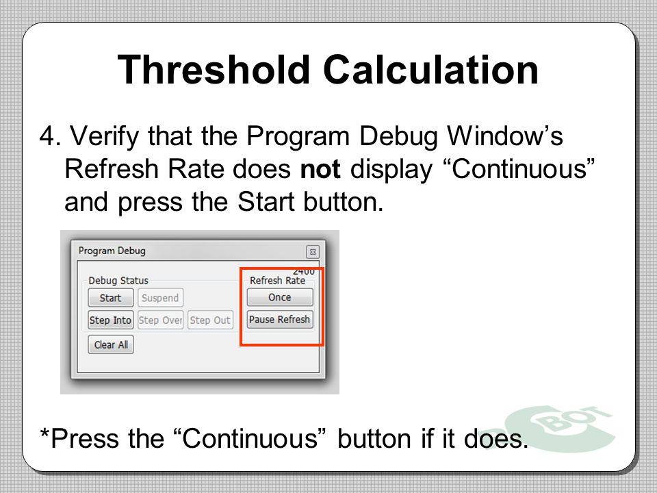Threshold Calculation