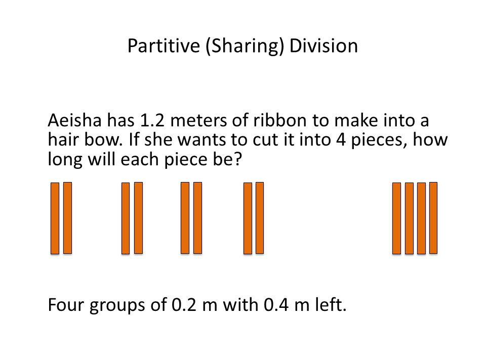 Partitive (Sharing) Division