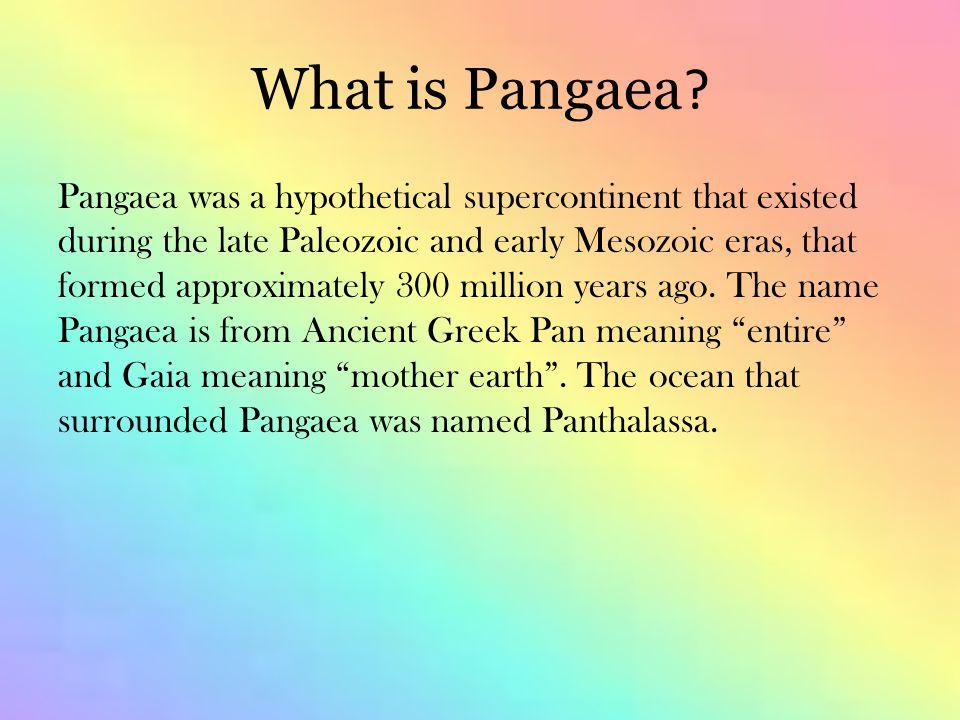 What is Pangaea