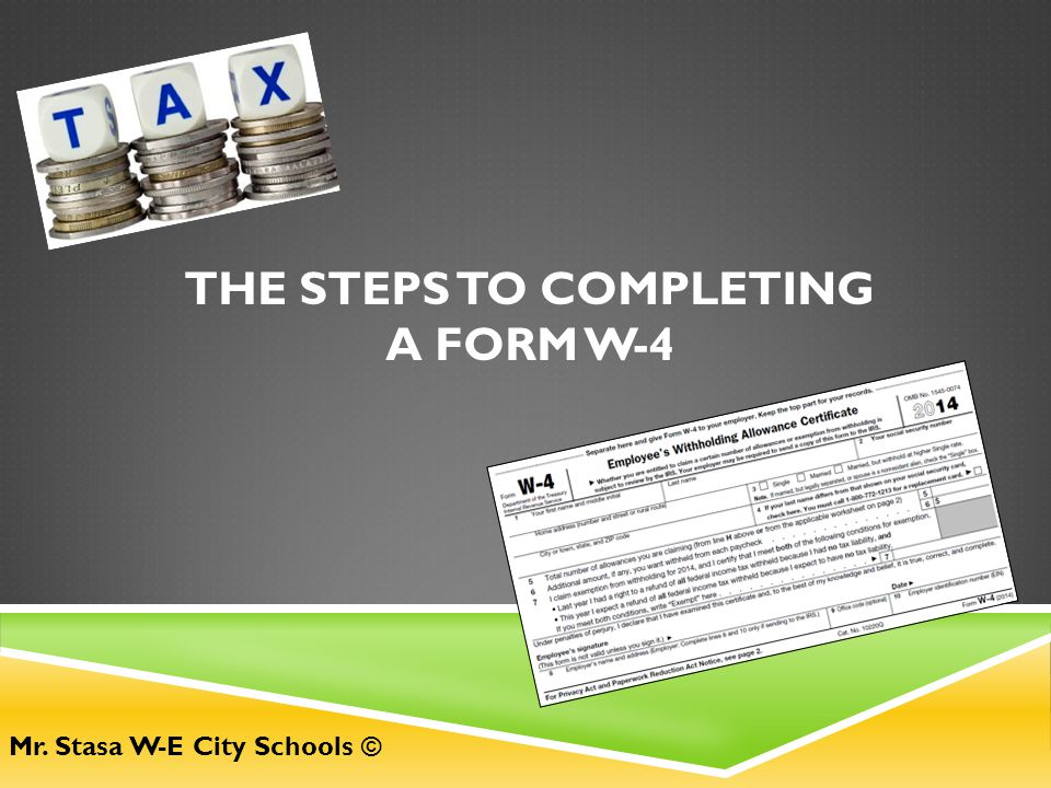 The Steps to Completing A Form W-4