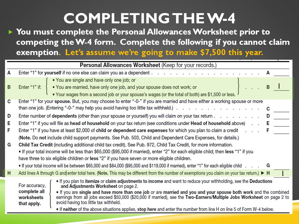 Completing The W-4