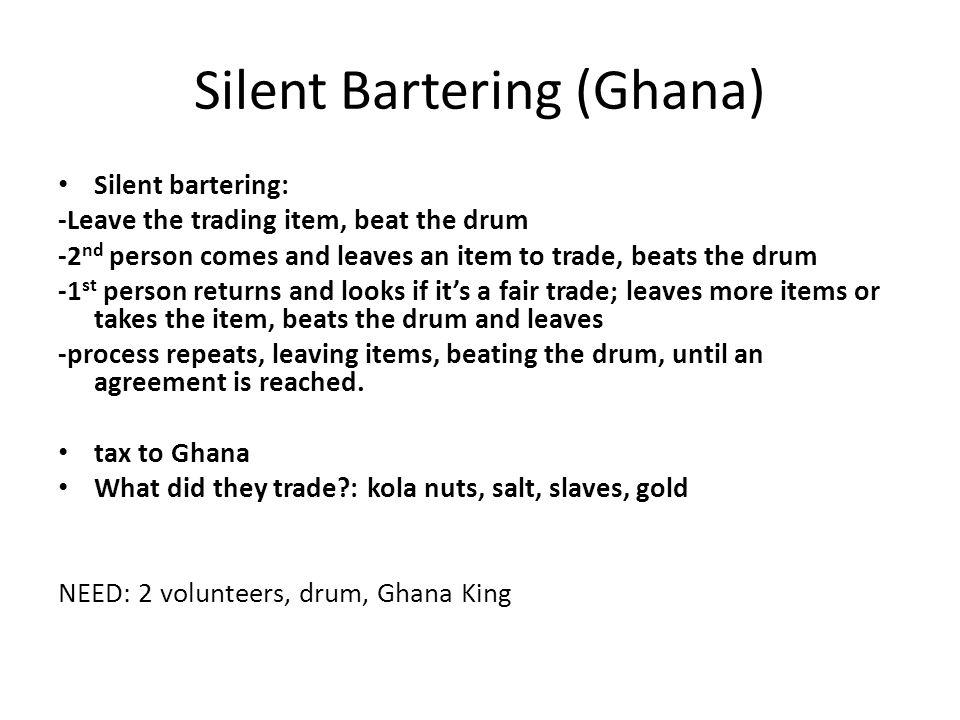 Silent Bartering (Ghana)