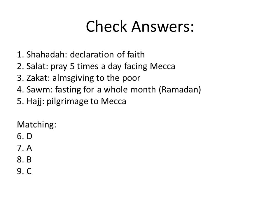 Check Answers: