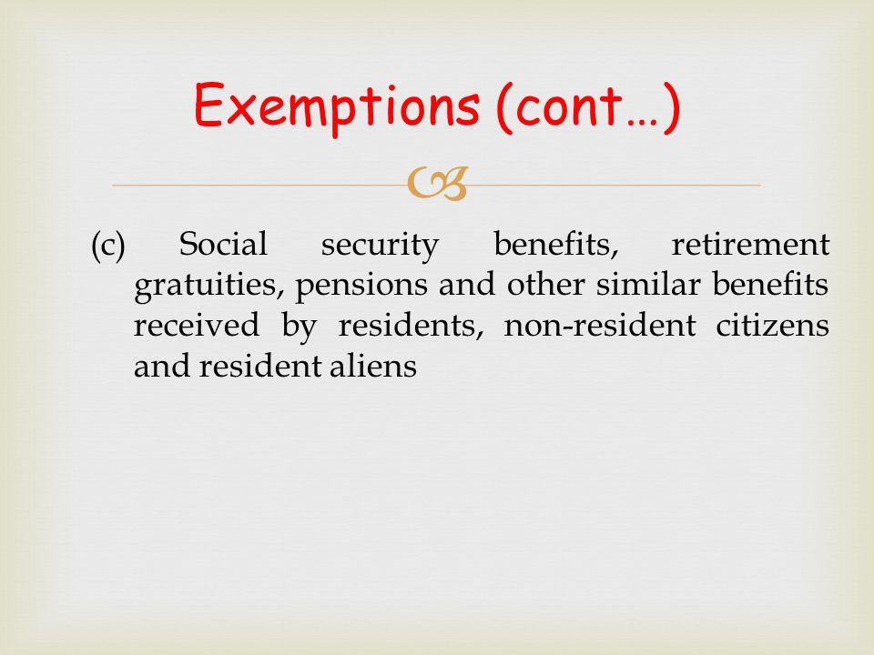 Exemptions (cont…)