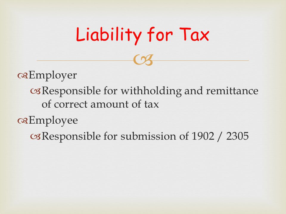tax withheld form for employees