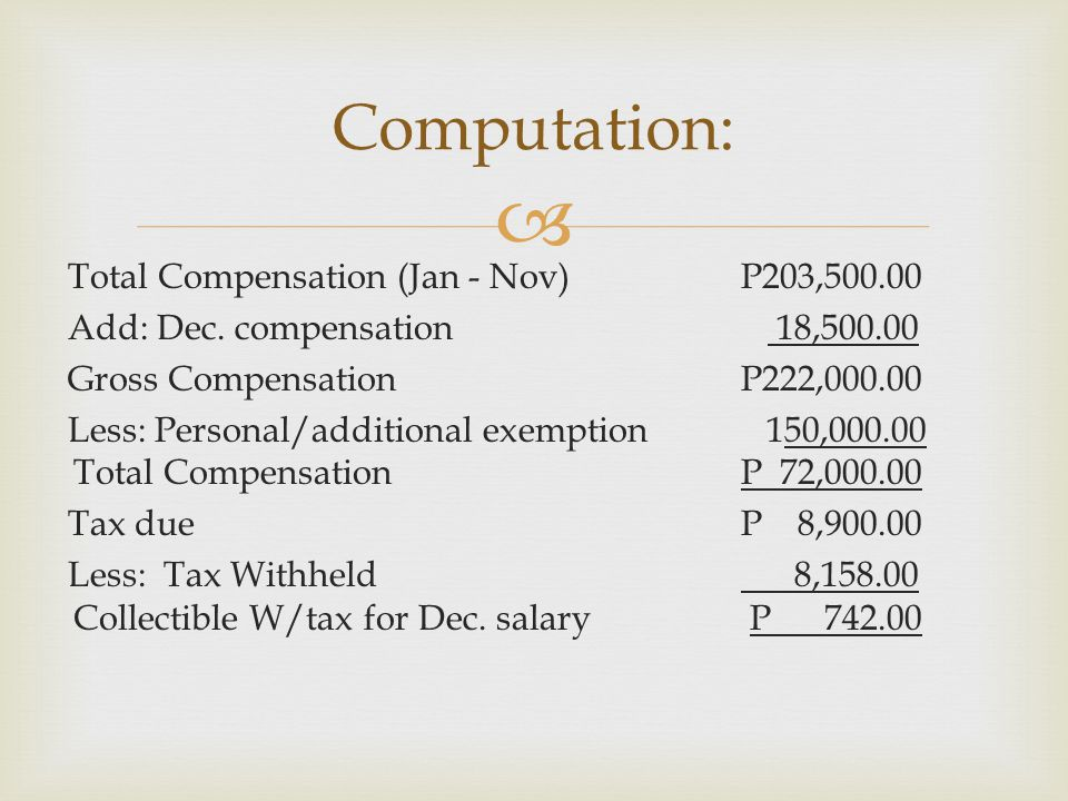 Computation:
