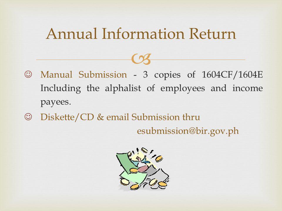 Annual Information Return