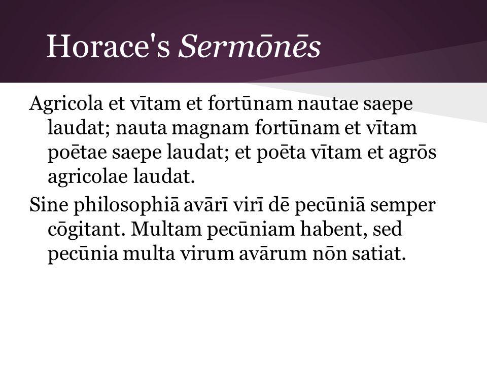 Horace s Sermōnēs