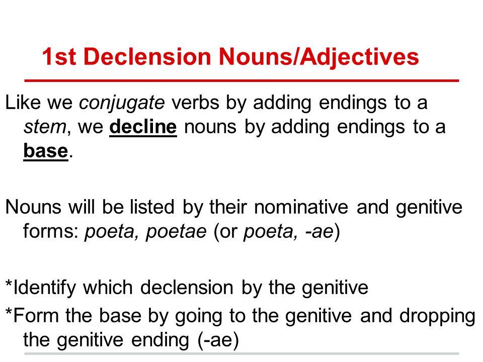 1st Declension Nouns/Adjectives