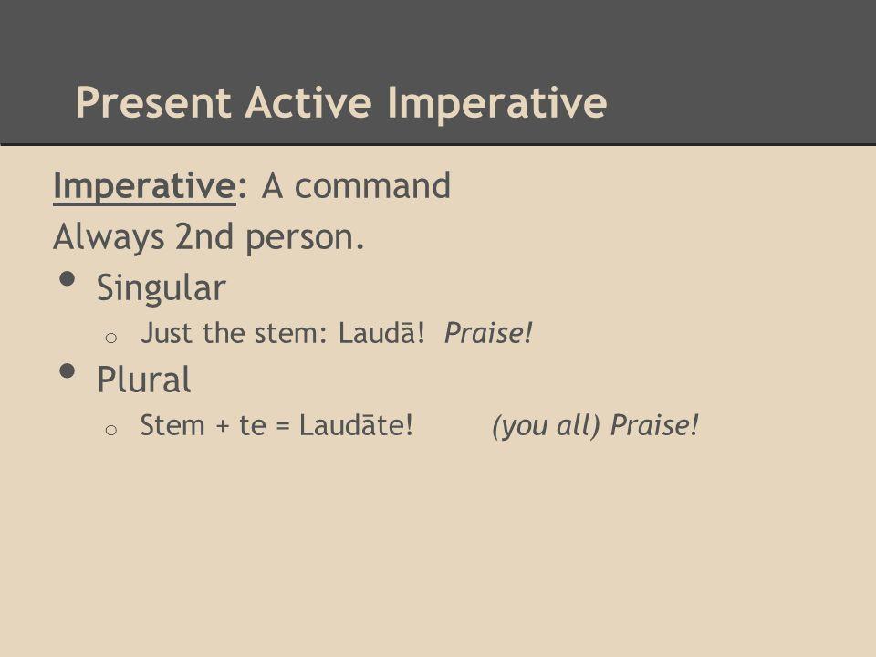 Present Active Imperative