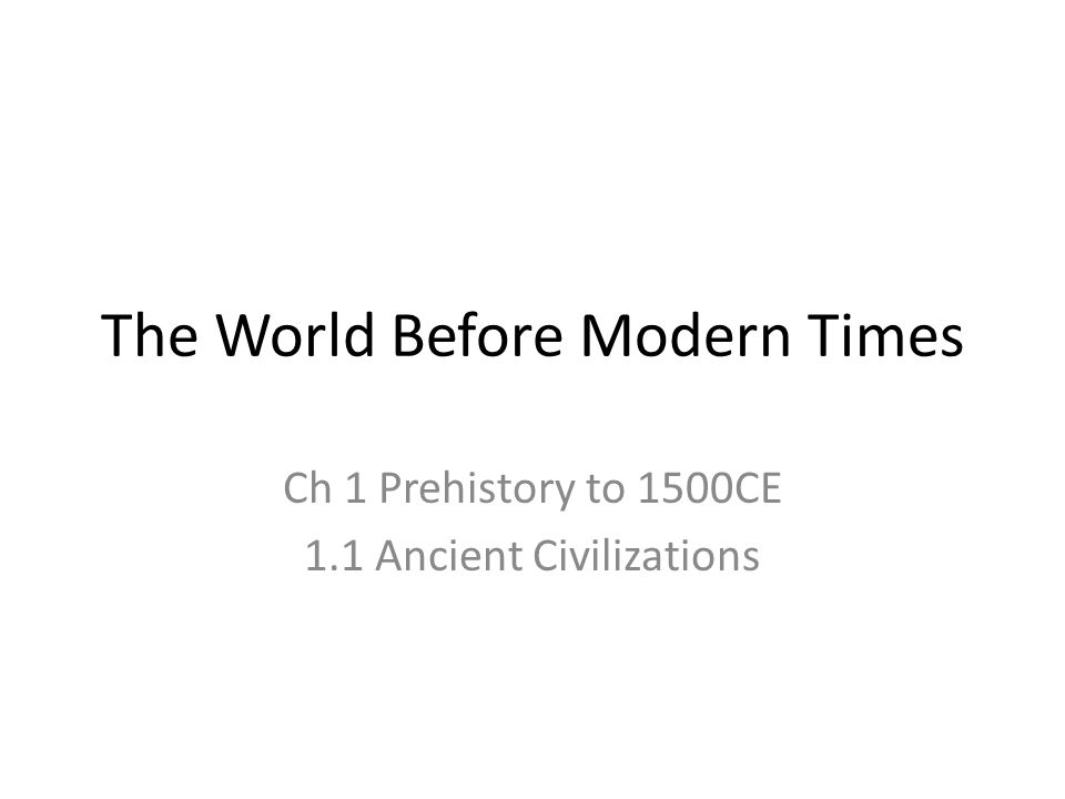 technology prehistory to 1500ce