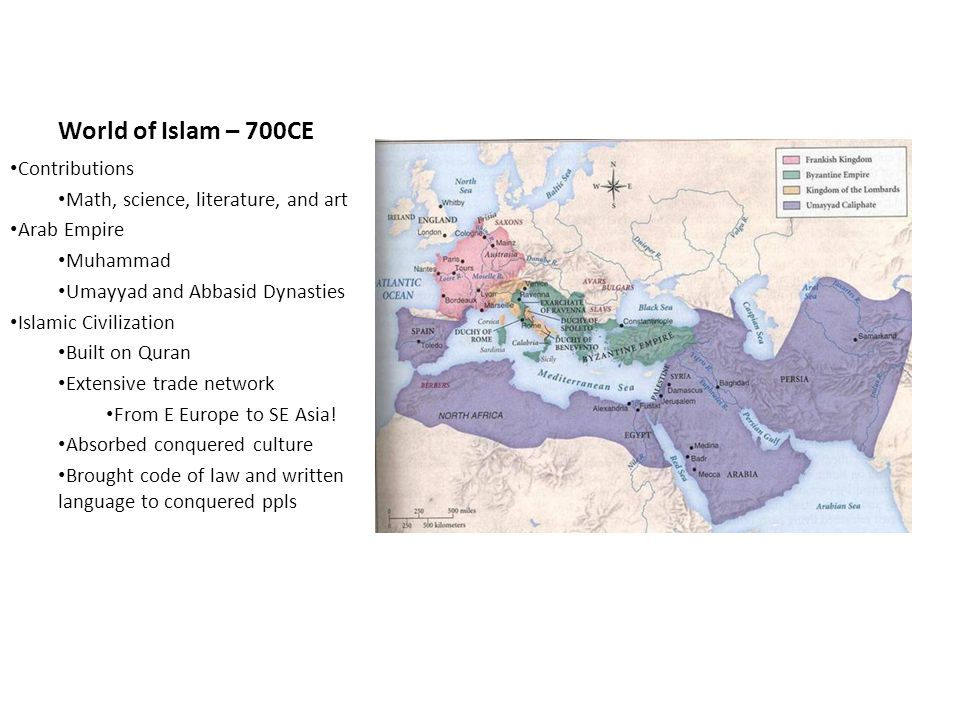 World of Islam – 700CE Contributions