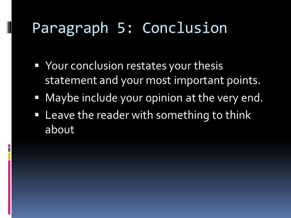 Paragraph 5: Conclusion
