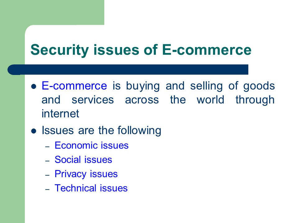 e commerce issues of security and privacy essay