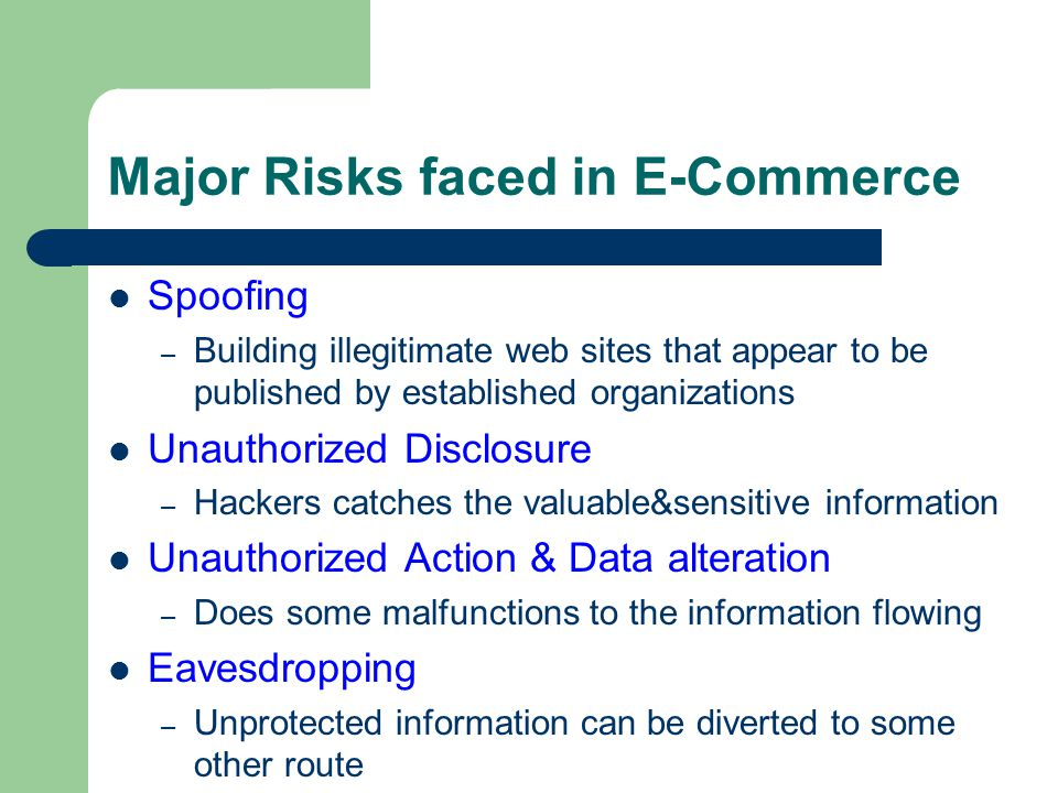 Major Risks faced in E-Commerce