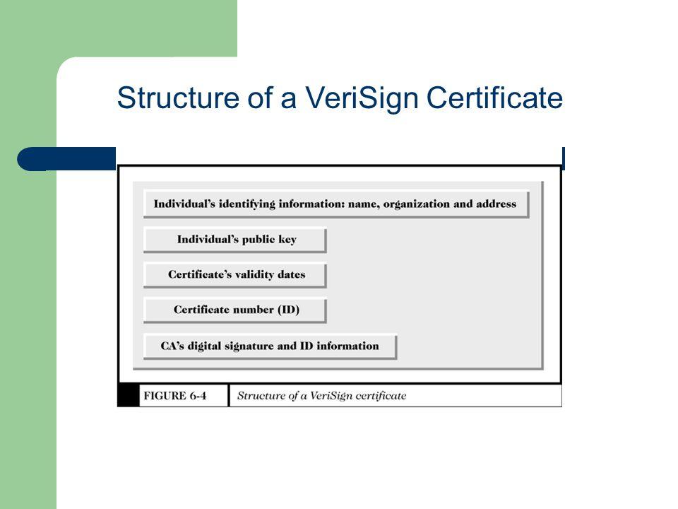 Structure of a VeriSign Certificate
