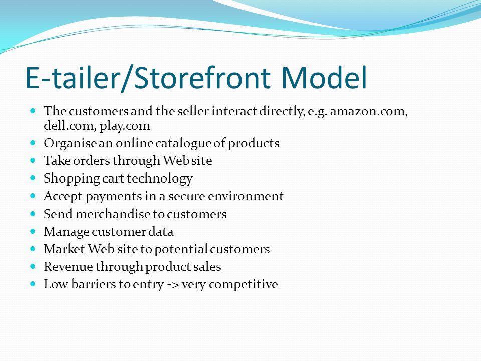 E-tailer/Storefront Model