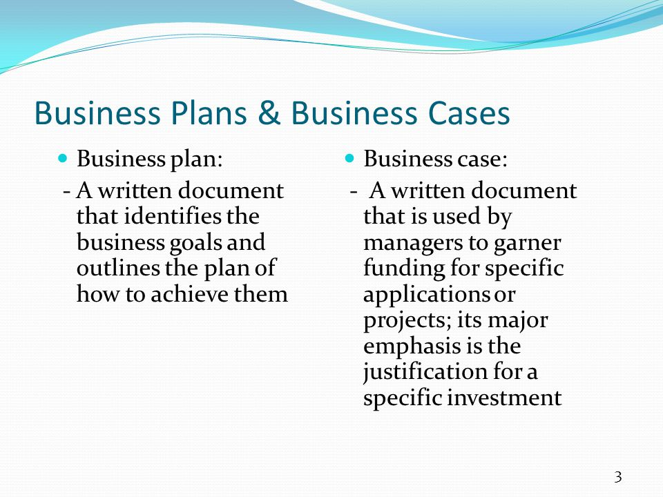 Business Plans & Business Cases
