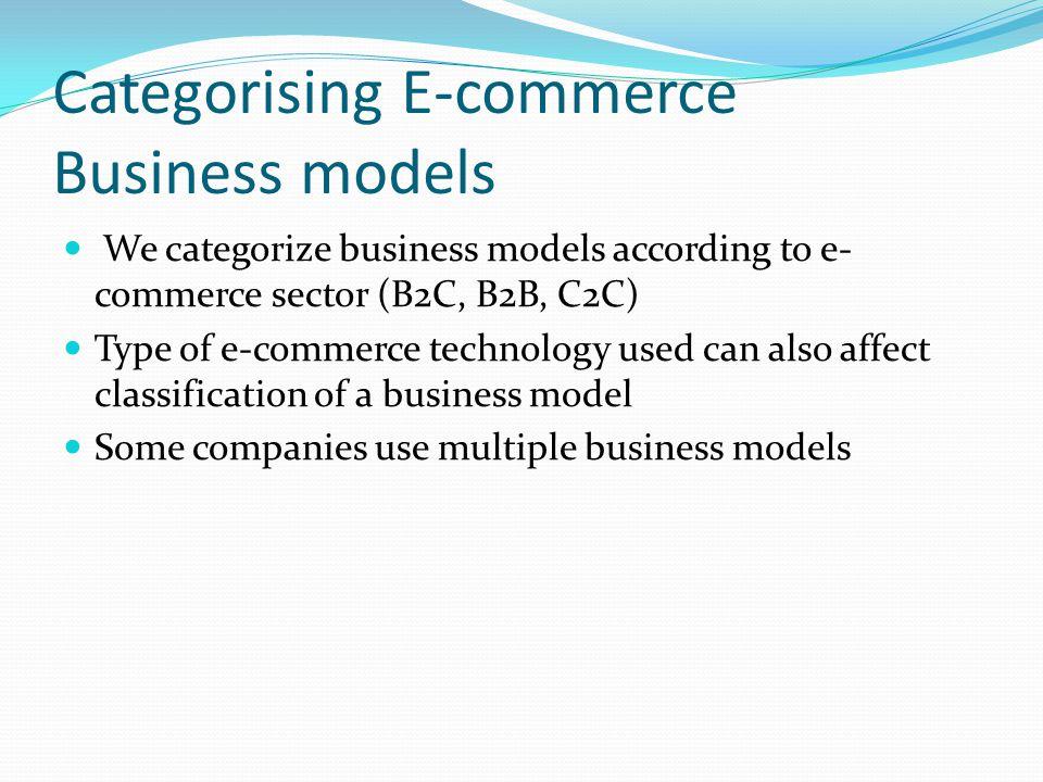 Categorising E-commerce Business models