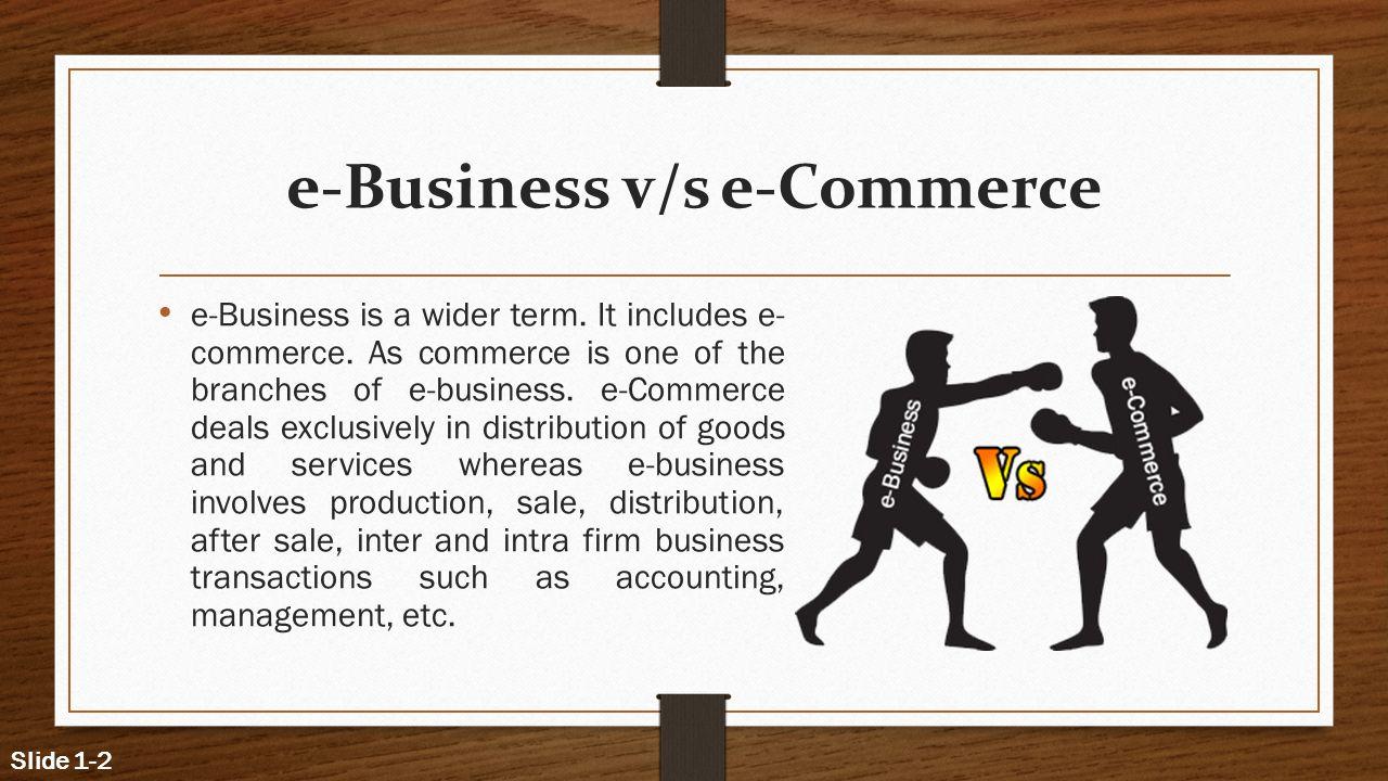 e-Business v/s e-Commerce