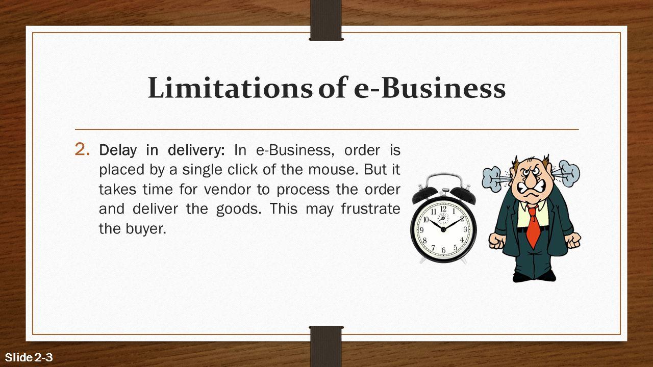 Limitations of e-Business
