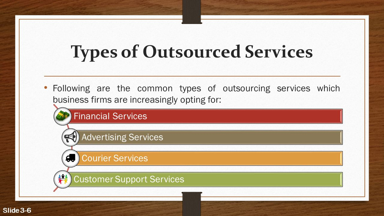 Types of Outsourced Services