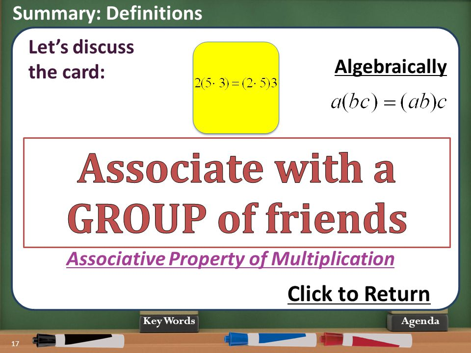 Associate with a GROUP of friends