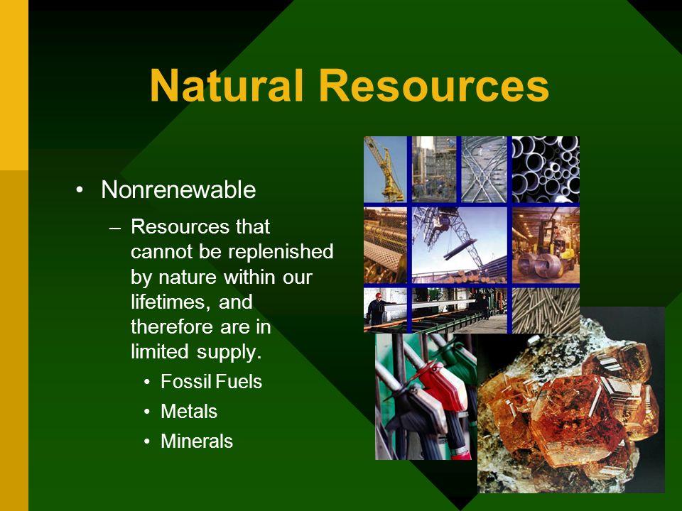 Natural Resources Nonrenewable