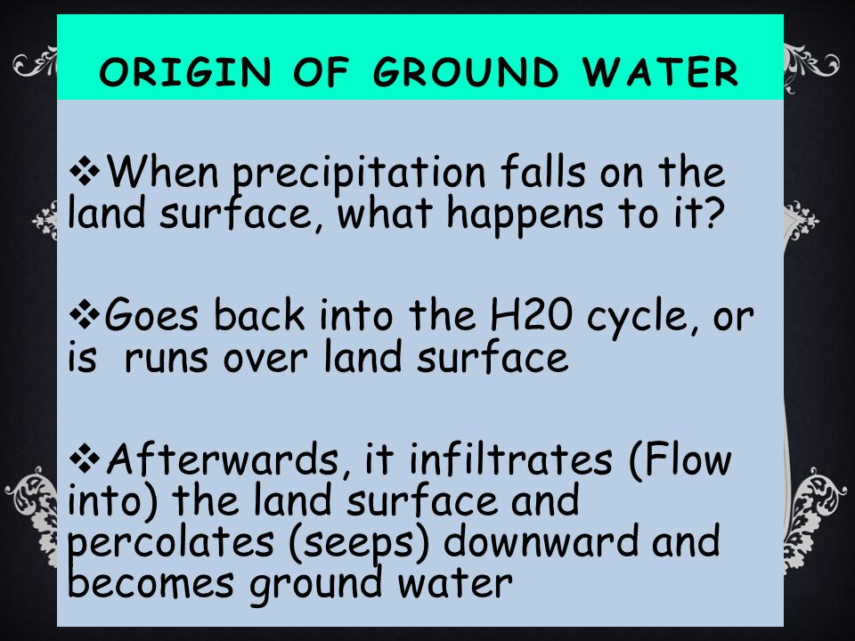 When precipitation falls on the land surface, what happens to it
